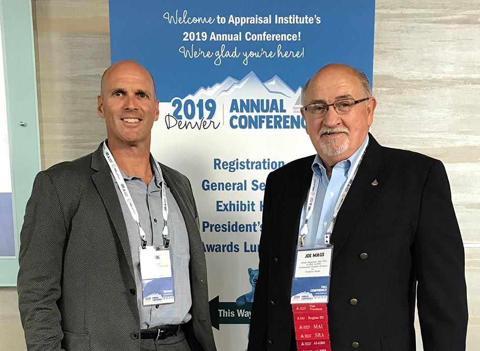 John Spesia and Joseph magdziarz at the Appraisal Institute Annual Conference in Denver, CO.