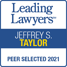 Leading Lawyers Jeffrey S. Taylor Peer Selected 2021 badge