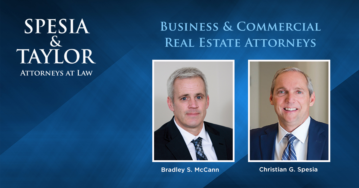 Business & Commercial Real Estate Attorneys Brad S. McCann and Christian G. Spesia
