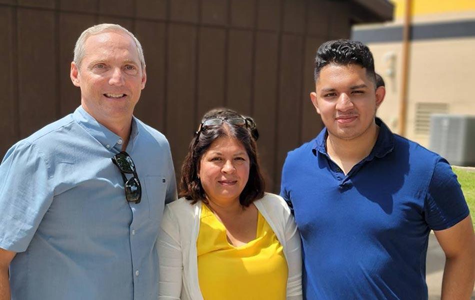 Photo of Chris Spesia, Teresa Guzman, Adrian Guzman