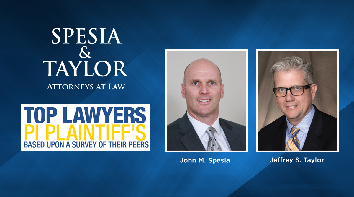 """Spesia & Taylor Partners John Spesia and Jeff Taylor recognized as """"Top Personal Injury Lawyers"""""""